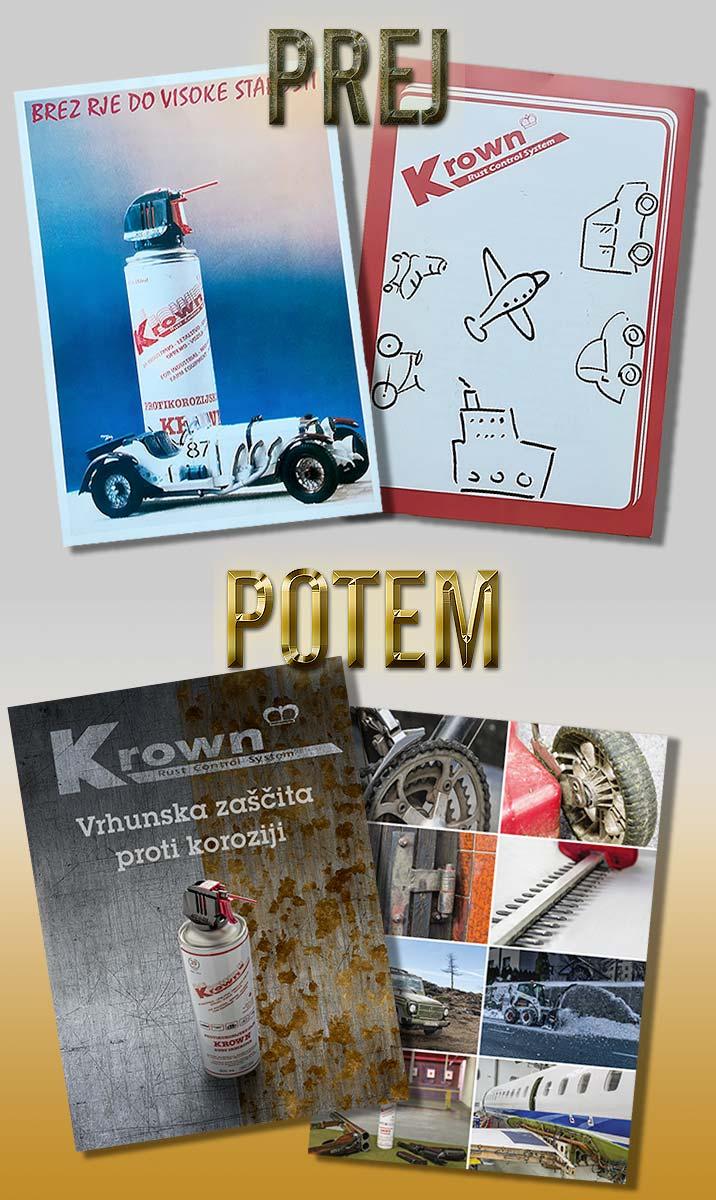 Primer obstoječa prodajne zloženke in posodobljenih marketinških materialov